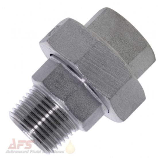 316 SS Stainless Steel Hex Split Navy Union BSP Male x Female Thread